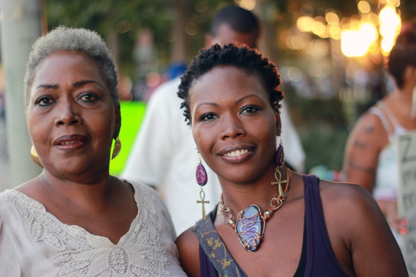 Mother and daughter who attended rally at Leimert Park July 16, 2013